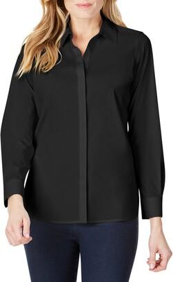 Foxcroft Kylie Non-Iron Cotton Button-Up Shirt