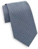 Saks Fifth Avenue Chevron Neat Silk Tie