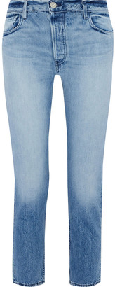 3x1 W3 Higher Ground Faded Mid-rise Straight-leg Jeans