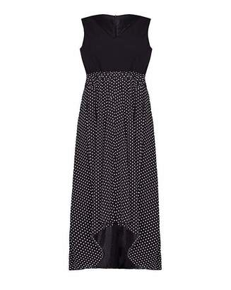 Yumi London Curve Polka Maxi Dress