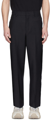 Valentino Black Wool Formal Pants