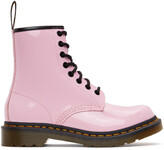 Thumbnail for your product : Dr. Martens Pink Patent 1460 Lace-Up Boots