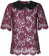 Dolce & Gabbana lace blouse - women - Cotton/Polyamide/Viscose - 42