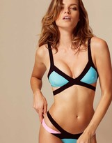 Agent Provocateur Mazzy Bikini Top Blue/Pink