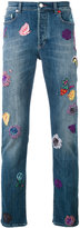 Paul Smith embroidered patch straight jeans - men - Cotton/Polyester/Spandex/Elastane - 30