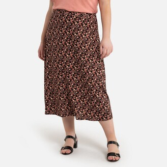 La Redoute Collections Plus Long Floral Print Skirt