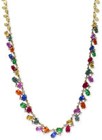 Effy Watercolors by Multi-Gemstone (17-3/4 ct. t.w.) and Diamond (1 ct. t.w.) Statement Necklace in 14k Gold