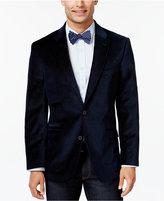 Tommy Hilfiger Blue Pindot Velvet Slim-Fit Sport Coat