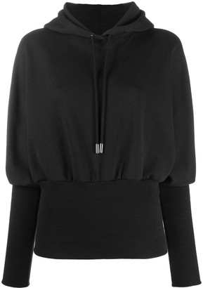 Opening Ceremony Ribbed Hem Long-Sleeved Hoodie