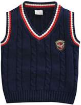 Aivtalk Baby Boy Winter Calble Knit Rib Waist Sweater Veat School Uniform with Twist Size 6