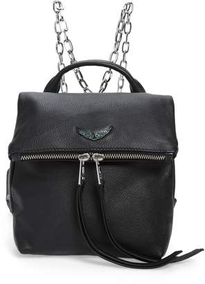 Zadig & Voltaire Romi Grained Leather Backpack