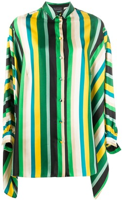 Gianluca Capannolo Stripe Batwing-Sleeve Shirt
