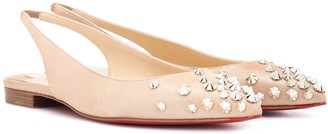Christian Louboutin Drama Sling suede ballet flats