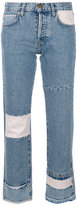 Current/Elliott cropped patchwork jeans - women - Cotton - 24