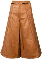 Chloé wide leg leather culottes
