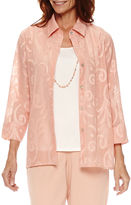 Alfred Dunner Just Peachy 3/4 Sleeve Layered Top