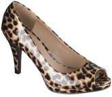 Merona Women's Magee Peep Toe Platform Pump - Brown Cheetah