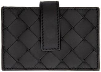 Bottega Veneta Black Small Intrecciato Card Holder