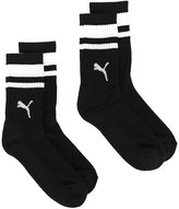 Puma logo embroidered socks - women - Cotton/Polyamide/Polyester/Spandex/Elastane - S