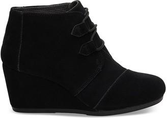 Toms Black Suede Women's Kala Booties