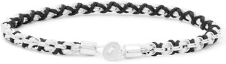 Miansai Nexus Rhodium-Plated and Cord Bracelet - Men - Black