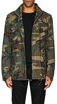 """Alpha Industries Men's """"Who's Your Daddy?"""" Camouflage Field Coat"""