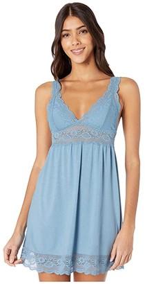 Eberjey Anouk Highline Chemise (Blue Shadow Blues) Women's Pajama