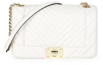 Karl Lagerfeld Paris Lara Pebbled Leather Chain Shoulder Bag