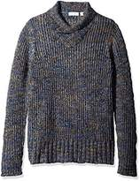 Calvin Klein Men's Space Dye High Cross Neck Sweater