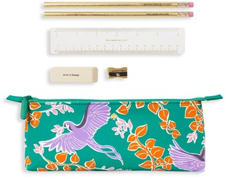 Kate Spade Bird Party 6-Piece Pencil Case Set