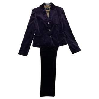Brooksfield Purple Velvet Dress for Women