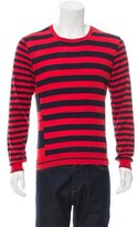 Alexander McQueen Striped Crew Neck Sweater