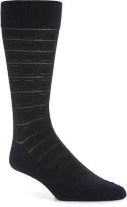 Nordstrom Ultrasoft Geometric Dress Socks