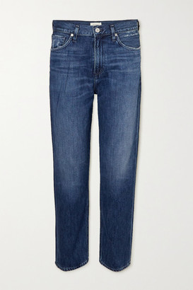 Citizens of Humanity Marlee Cropped High-rise Tapered Jeans - Blue