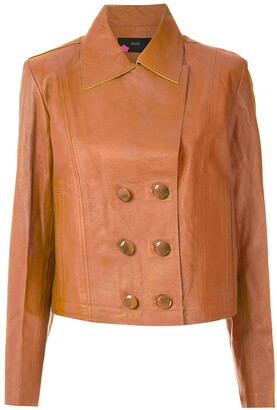 Eva Leather Buttoned Jacket