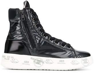 Premiata White Edith high top sneakers