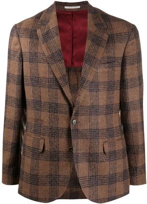 Brunello Cucinelli Deconstructed check-pattern blazer