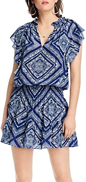 Lini Stacey Printed Flutter-Sleeve Dress - 100% Exclusive