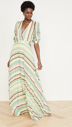 IORANE Striped Pleated Dress