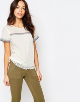 Esprit Embrodiered Folk Shell Top