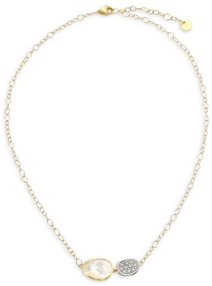 Marco Bicego Lunaria 18K Yellow Gold, Diamond Pave & Mother-of-Pearl Necklace