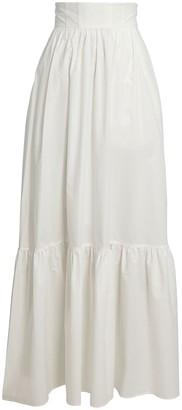 A.L.C. Lila Cotton Poplin Maxi Skirt