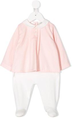 Fendi Kids Monogrammed Two-Tone Babygrow