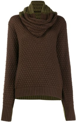Johanna Ortiz Removable Scarf Chunky Knit Sweater