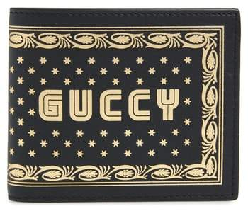 Gucci Print Leather Wallet