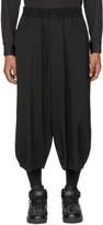 Comme des Garcons Black Oversized Wool Gabardine Shorts