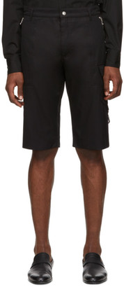 Alexander McQueen Black Pocket Detail Shorts