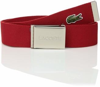 Lacoste Men's Textile Signature Croc Logo Belt