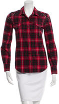 IRO Plaid Long Sleeve Top