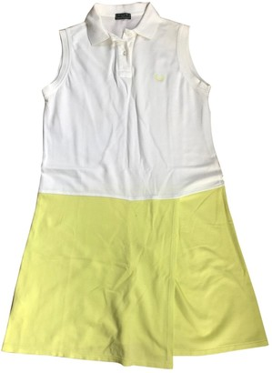 Fred Perry White Cotton Dress for Women